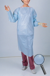 DISPOSABLE POLYETHYLENE GOWN